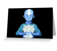 Avatar The Last Airbender Aang's Avatar State With Raava Greeting Card
