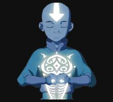 Avatar The Last Airbender Aang's Avatar State With Raava T-Shirt