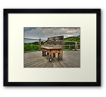 A Seat for Rosalie Framed Print
