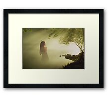 The lady of the lake Framed Print