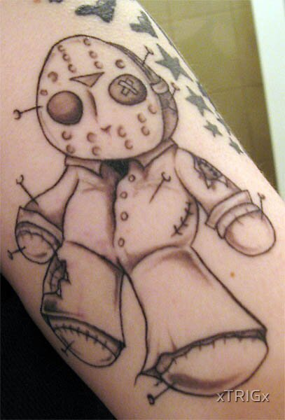 my Jason Voorhees tattoo by xTRIGx
