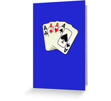 Deck of Lucky Ace Cards - Poker T-shirt Sticker Greeting Card