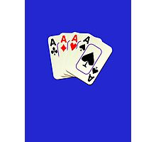 Deck of Lucky Ace Cards - Poker T-shirt Sticker Photographic Print