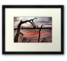 Salt pan Framed Print
