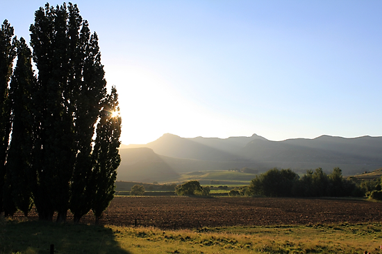 Golden Gate Sunset, Free State, South Africa. by Qnita