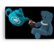 ☀ ツ TEA TIME TEDDY BEAR PICTURE/CARD ☀ ツ Canvas Print