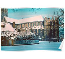 Canterbury Cathedral in Snow, early 1961 Poster