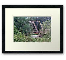 """Great Northern and Santa Fe Railroad Trestle"" Framed Print"