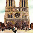 Notre Dame Cathedral, Paris, France by RDRiccoboni