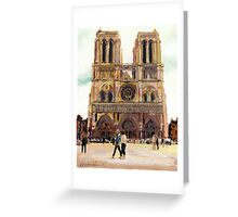 Notre Dame Cathedral, Paris, France Greeting Card