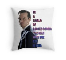In a World Of Locked Rooms... Throw Pillow
