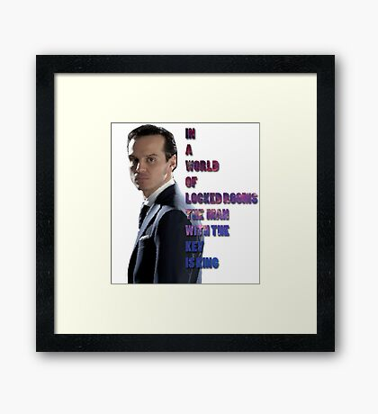 In a World Of Locked Rooms... Framed Print