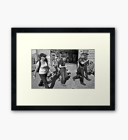 Ekka Patrol Framed Print