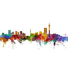 Johannesburg South Africa Skyline Photographic Print