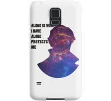 Alone Protects Me Samsung Galaxy Case/Skin