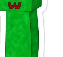 Kawaii Minecraft Creeper Sticker