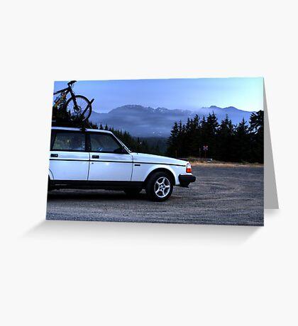 Hurricane Ridge and Volvo Greeting Card