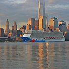 Cruise Ship Norwegian Breakaway on the Hudson River by pmarella