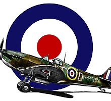 British Spitfire Fighter Plane by olivercook
