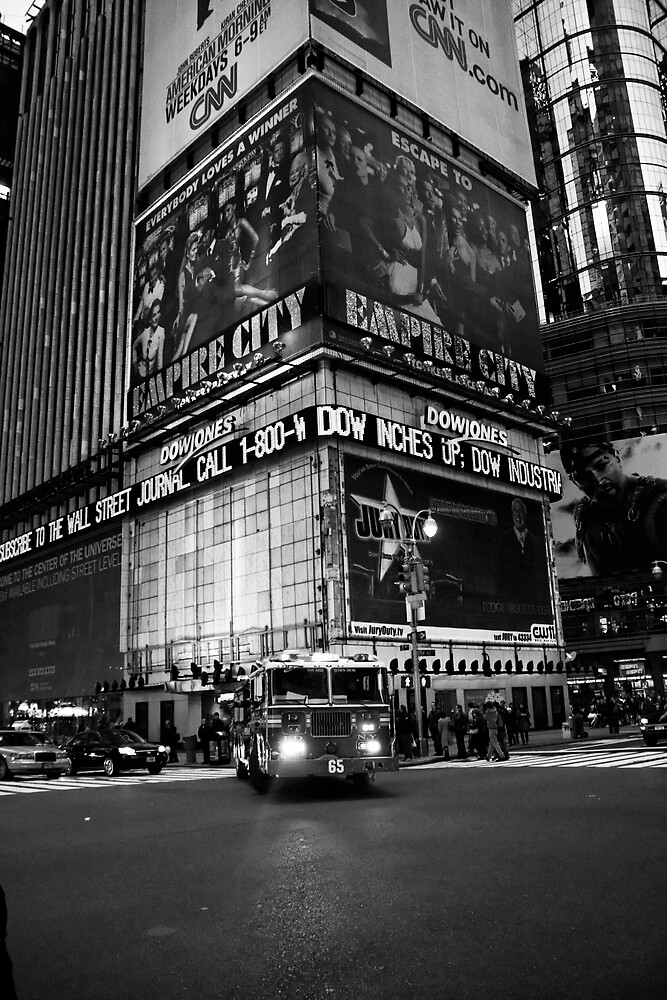 Fireman Times Square by Elodie