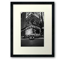 Fireman Times Square Framed Print