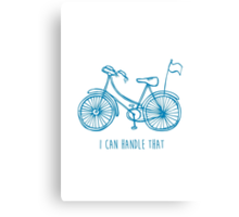 Hipster bicycle - blue - matches with orange bicycle Canvas Print