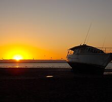 Tide Out, Sun Down by sailgirl