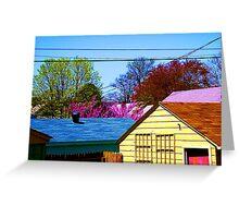 Neighborhood Skyline Greeting Card