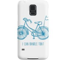Hipster bicycle - blue - matches with orange bicycle Samsung Galaxy Case/Skin