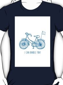 Hipster bicycle - blue - matches with orange bicycle T-Shirt