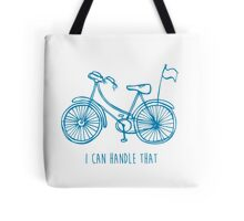 Hipster bicycle - blue - matches with orange bicycle Tote Bag