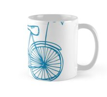 Hipster bicycle - blue - matches with orange bicycle Mug