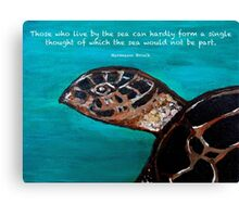 One with the Sea Canvas Print