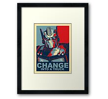 Optimus Prime - Change Framed Print
