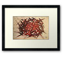 RAW 2 : red Framed Print