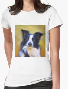 Taj - Border Collie Womens Fitted T-Shirt