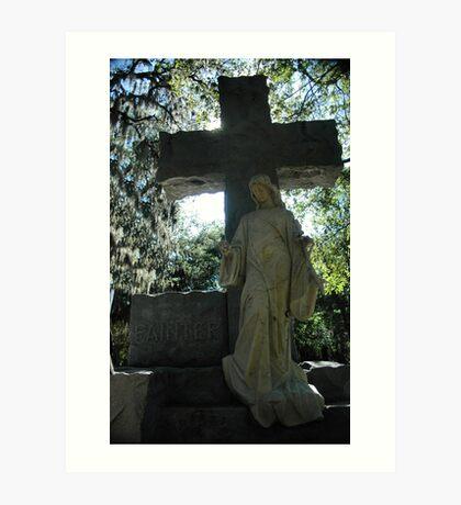 Evergreen cemetery Art Print