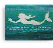 Mermaid Found Canvas Print