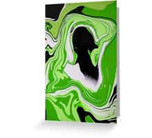 dream sequence (detail) : green Greeting Card