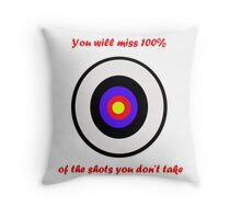 100% of shots Throw Pillow