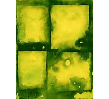 Green Squares Photographic Print