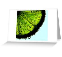 Lime With a Twist Greeting Card