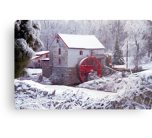 Snow at the Old Mill Metal Print