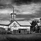 Star barn - two outbuildings. by Jeff  Wiles