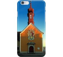The cemetary church of Aigen II | architectural photography iPhone Case/Skin