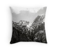 Snow at Red Rock Canyon Throw Pillow