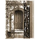 Charleston Door & Iron Gate in Sepia by Benjamin Padgett