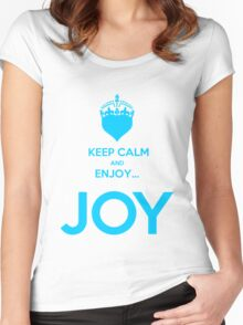 KEEP CALM AND ENJOY JOY AZUR  Women's Fitted Scoop T-Shirt
