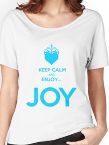 KEEP CALM AND ENJOY JOY AZUR  Women's Relaxed Fit T-Shirt