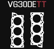 VG30DETT Engine Head Gasket Design - dark background One Piece - Short Sleeve